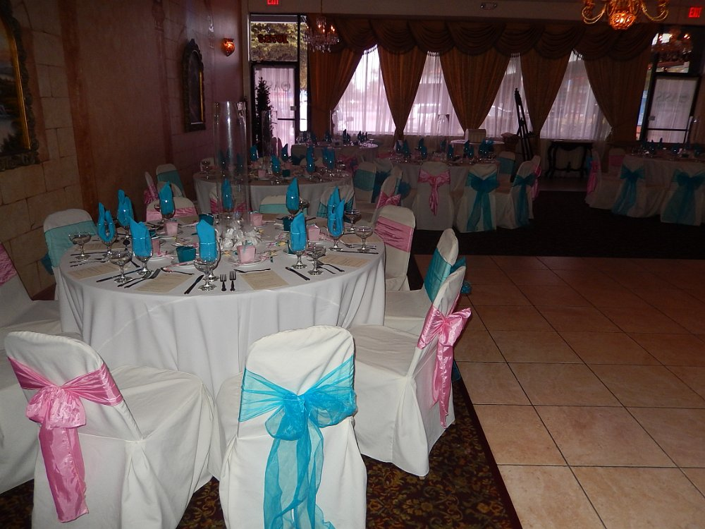 Banquet halls for baby showers sorepointrecords for Baby shower hall decoration